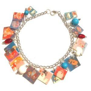 Vintage classic frosty the snowman charm bracelet